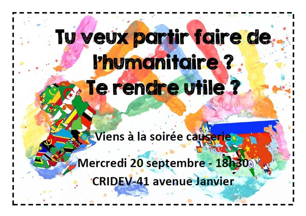 Soirée causeries : partir faire de l'humanitaire, se rendre utile... @Rennes