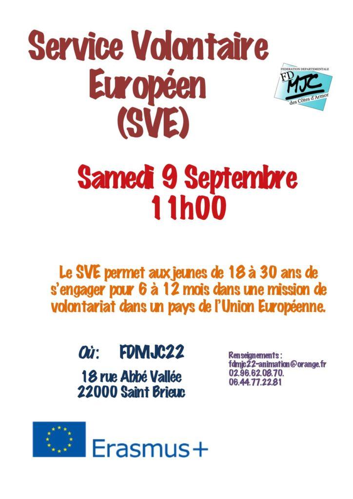Service volontaire européen : réunion d'information @Saint-Brieuc