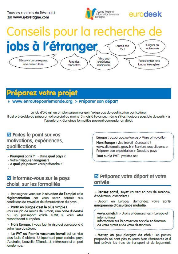 chercher un job  un emploi