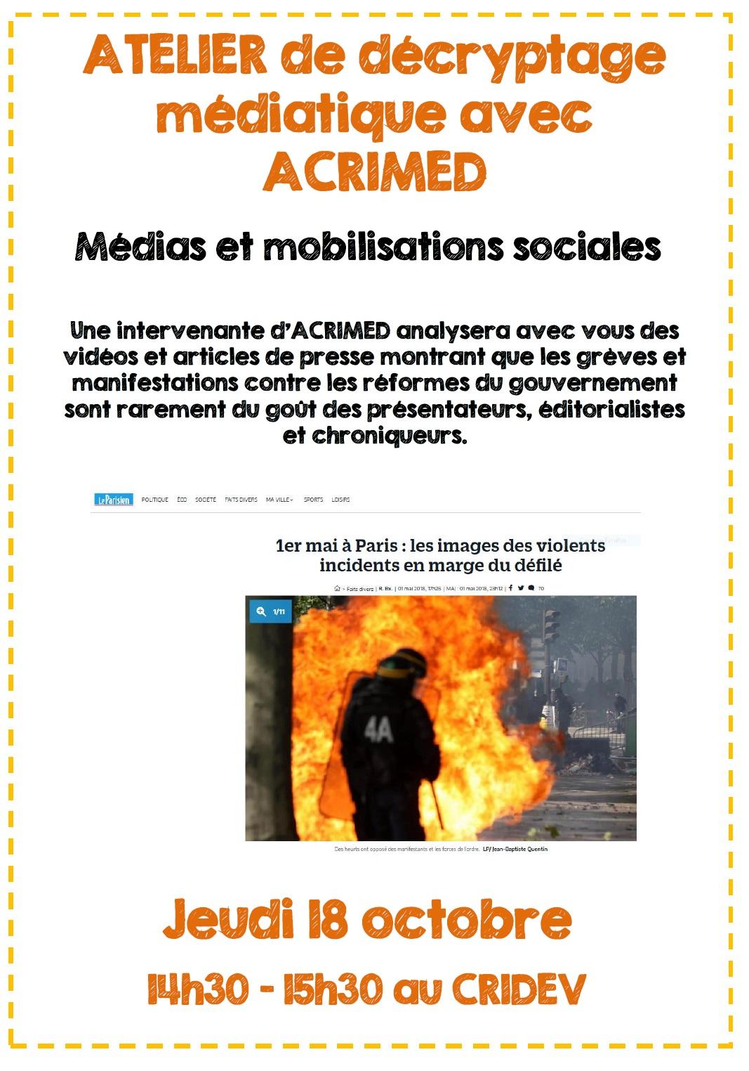 Atelier de décryptage médiatique @Rennes @ Rennes