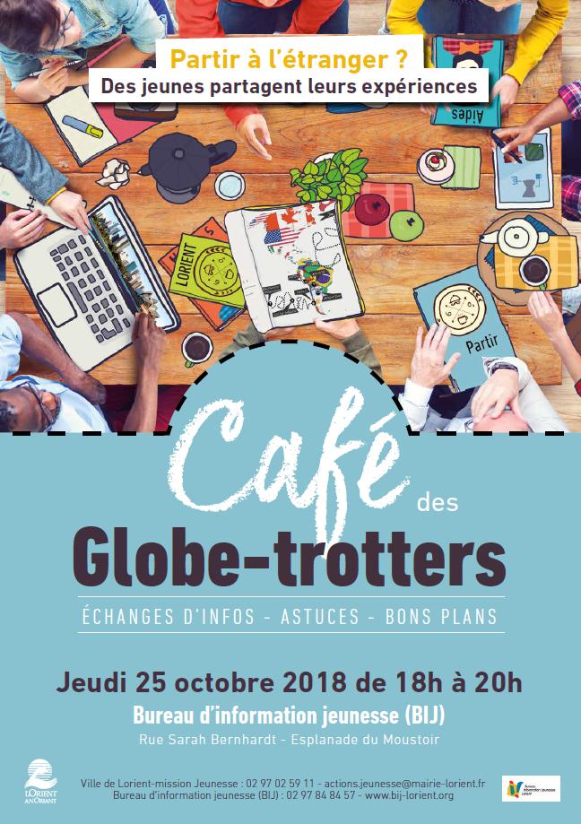 BIJ de Lorient : café des globe-trotters, le 25/10/18 @ Lorient